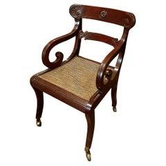 19th Century Regency Mahogany Library Chair
