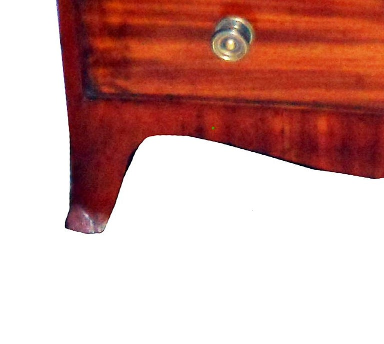 English 19th Century Regency Mahogany Miniature Chest of Drawers For Sale