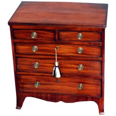 19th Century Regency Mahogany Miniature Chest of Drawers
