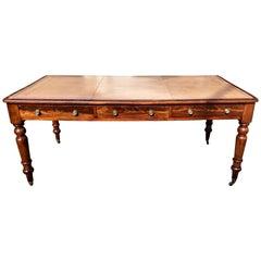 19th Century Regency Mahogany Partner's Desk or Writing Table