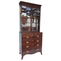 19th Century Regency Mahogany Secretary Bookcase