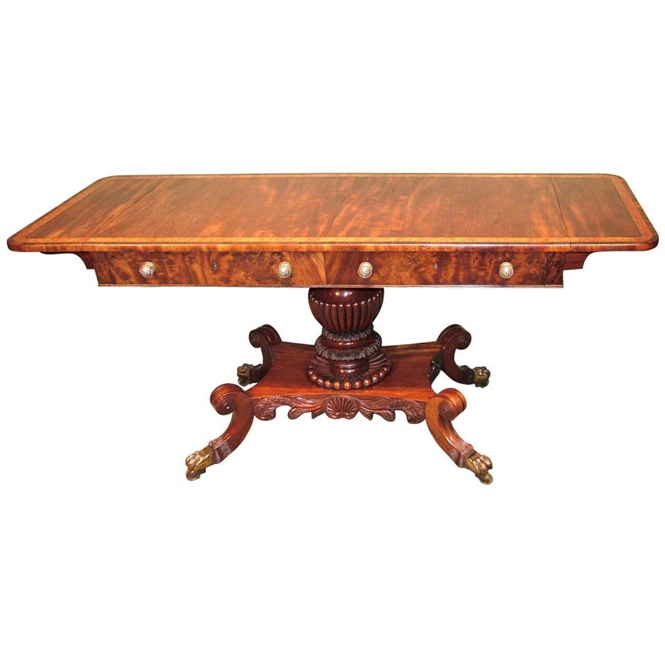 19th Century Regency Mahogany Sofa Table