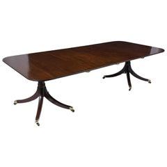 19th Century Regency Mahogany Twin Pedestal Dining Table