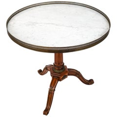 19th Century Regency Marble Top Gueridon Table