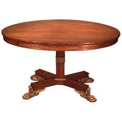 19th Century Regency Oval Padouk Wood Breakfast Table