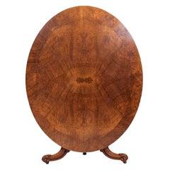 19th Century Regency Oval Walnut Supper Table