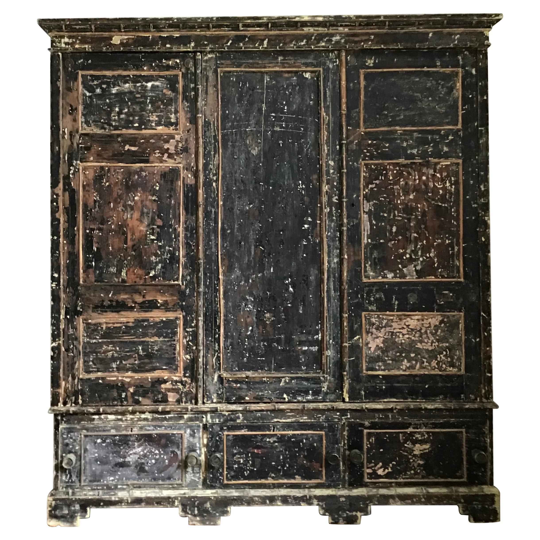 19th Century Regency Painted Wardrobe