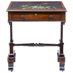 19th Century Regency Palisander Painted Slate Top Table