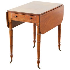 19th Century Regency Pembroke Drop-Leaf Table