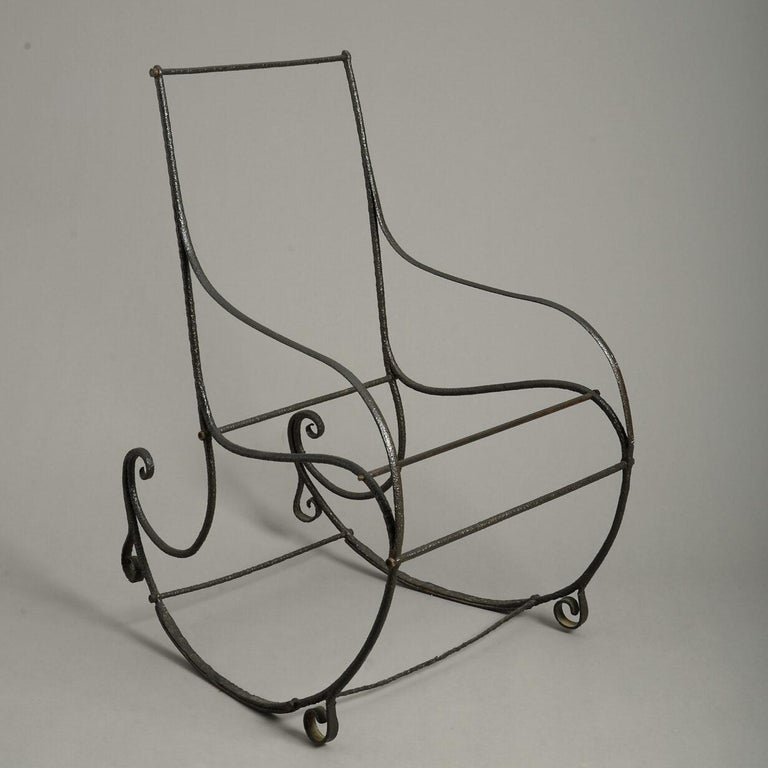 19th Century Regency Period Cast Iron Rocking Chair In Good Condition For Sale In London, GB