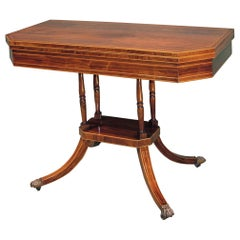 19th Century Regency Period Rosewood Card Table