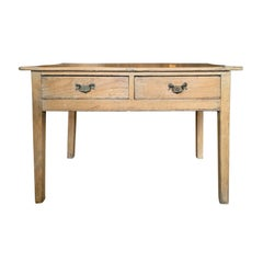 19th Century Regency Pine Table, Two Drawers