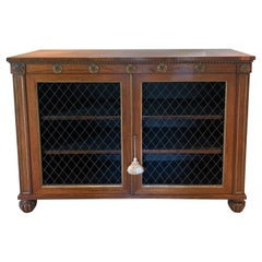 19th Century Regency Rosewood 2 Door Cabinet