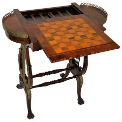 19th Century Regency Rosewood and Calamander Games Table, circa 1815
