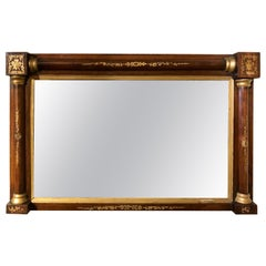 19th Century Regency Rosewood and Gilt Overmantel Mirror