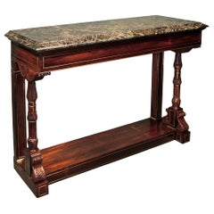 19th Century Regency Rosewood and Marble Console Table
