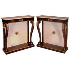 19th Century Regency Rosewood Console Tables