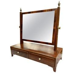 19th Century Regency Rosewood Dressing Mirror