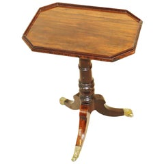 19th Century Regency Rosewood Kettle Stand Wine Table