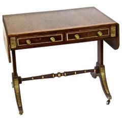 19th Century Regency Rosewood Sofa Table, Attributed to John Mclean