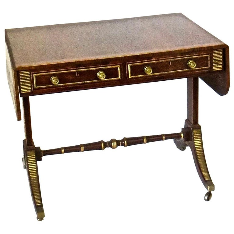 19th Century Regency Rosewood Sofa Table, Attributed to John Mclean For Sale