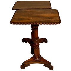 19th Century Regency Rosewood Wine Tables, Attributed to Gillows