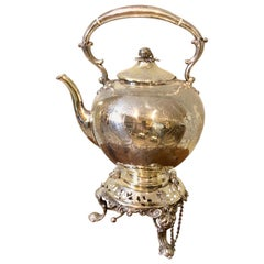 19th Century Regency Silver Tilting Teapot with Burner