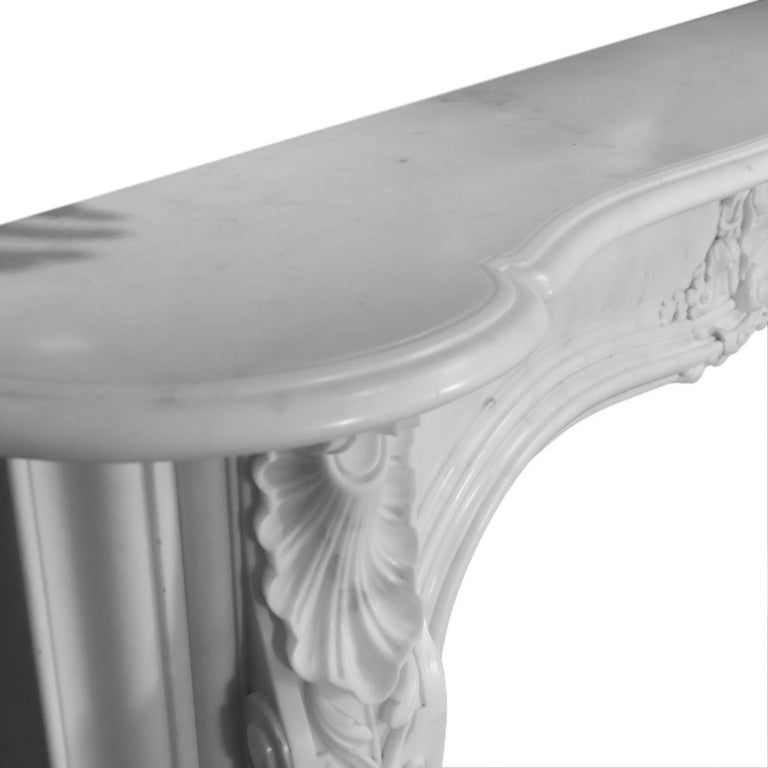 19th Century Regency Statuary White Marble Fireplace Chimneypiece For Sale 4
