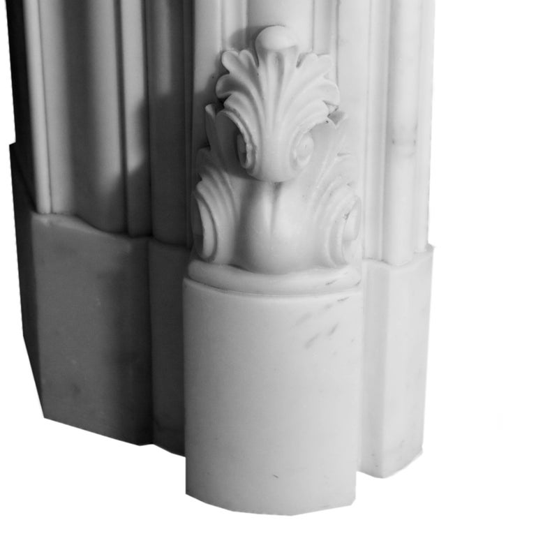 19th Century Regency Statuary White Marble Fireplace Chimneypiece In Excellent Condition For Sale In London, GB