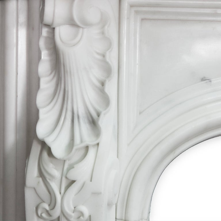19th Century Regency Statuary White Marble Fireplace Chimneypiece For Sale 1