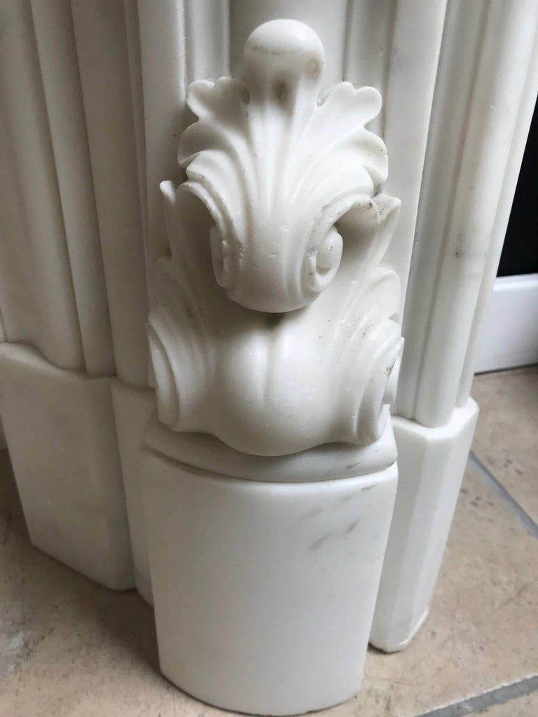 19th Century Regency Statuary White Marble Fireplace Chimneypiece For Sale 2