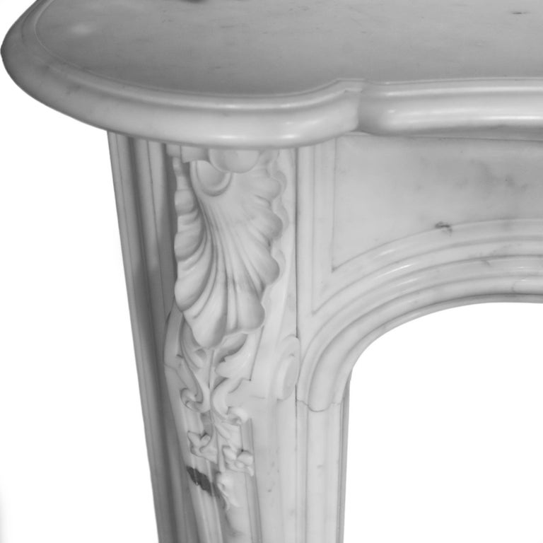 19th Century Regency Statuary White Marble Fireplace Chimneypiece For Sale 3
