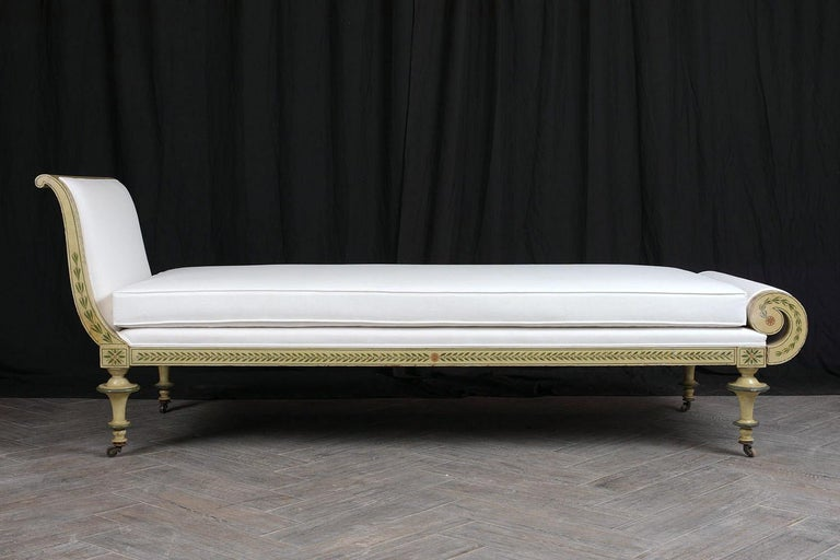 19th Century Regency Style Chaise Lounge In Good Condition For Sale In Los Angeles, CA