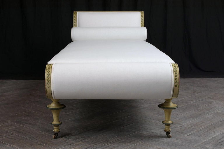 19th Century Regency Style Chaise Lounge For Sale 2