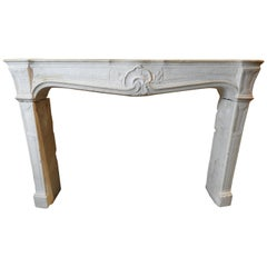 19th Century Regency Style Fireplace in Chassagne Stone from Burgundy
