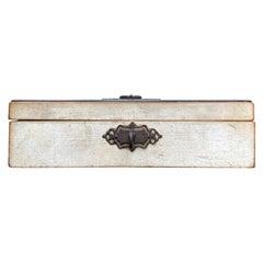 19th Century Regency Style Poss, of the Period Wood Box, Metal Mounts