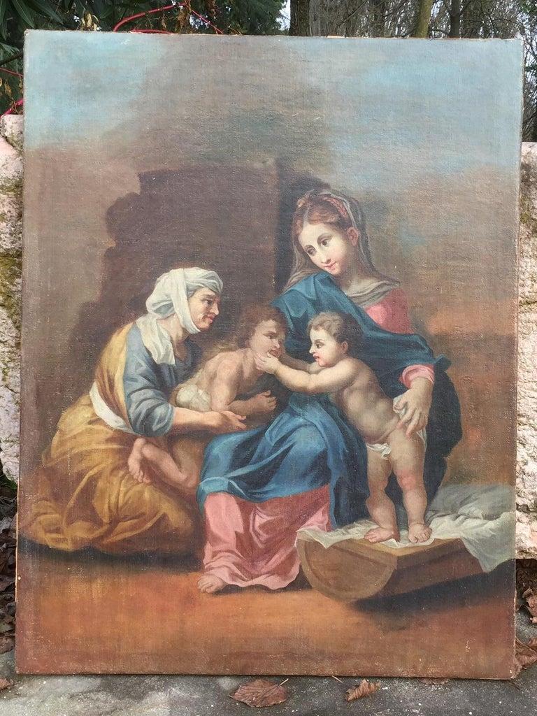19th Century Religious Painting of Italian School For Sale 4