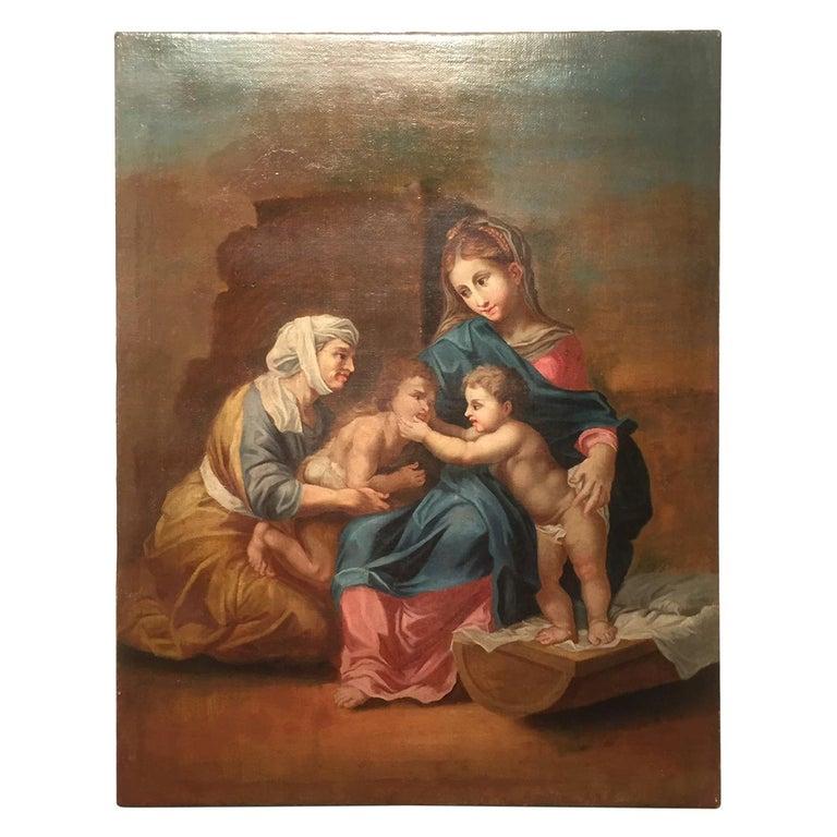 19th Century Religious Painting of Italian School For Sale