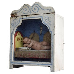 19th Century Reliquary Wax Figure of Baby Jesus