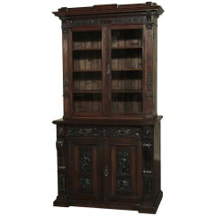 19th Century Renaissance Revival Bookcase with Angels, Putti