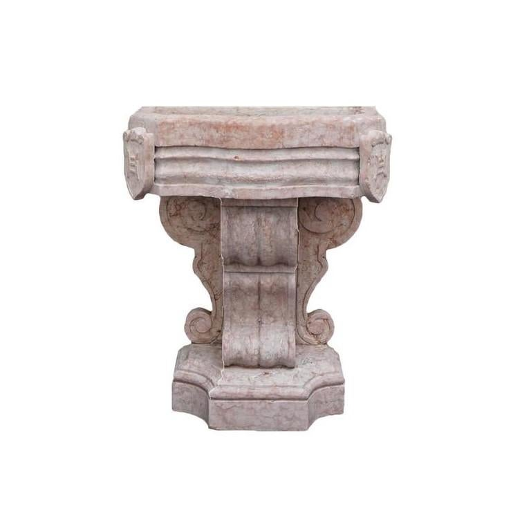 Hand-Carved 19th Century Renaissance Style Marble Italian Wall Fountain For Sale