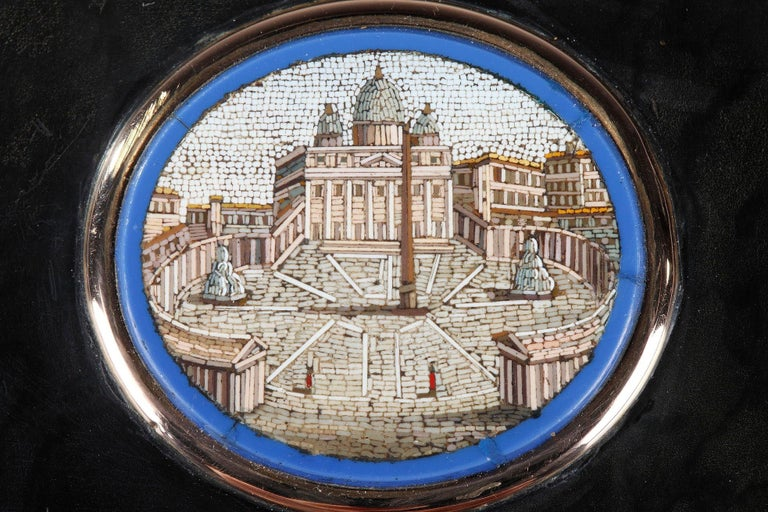 Charles X 19th Century Restauration Snuff Box with Micromosaic For Sale
