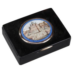 19th Century Restauration Snuff Box with Micromosaic