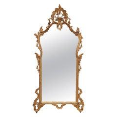 19th Century Rococo Giltwood Mirror, France