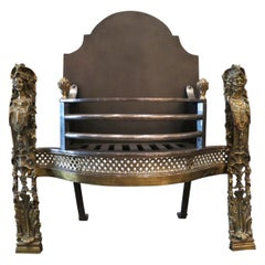 19th Century Rococo Style Fire Grate