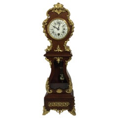 19th Century Rococo Style Miniature Longcase Clock, circa 1870