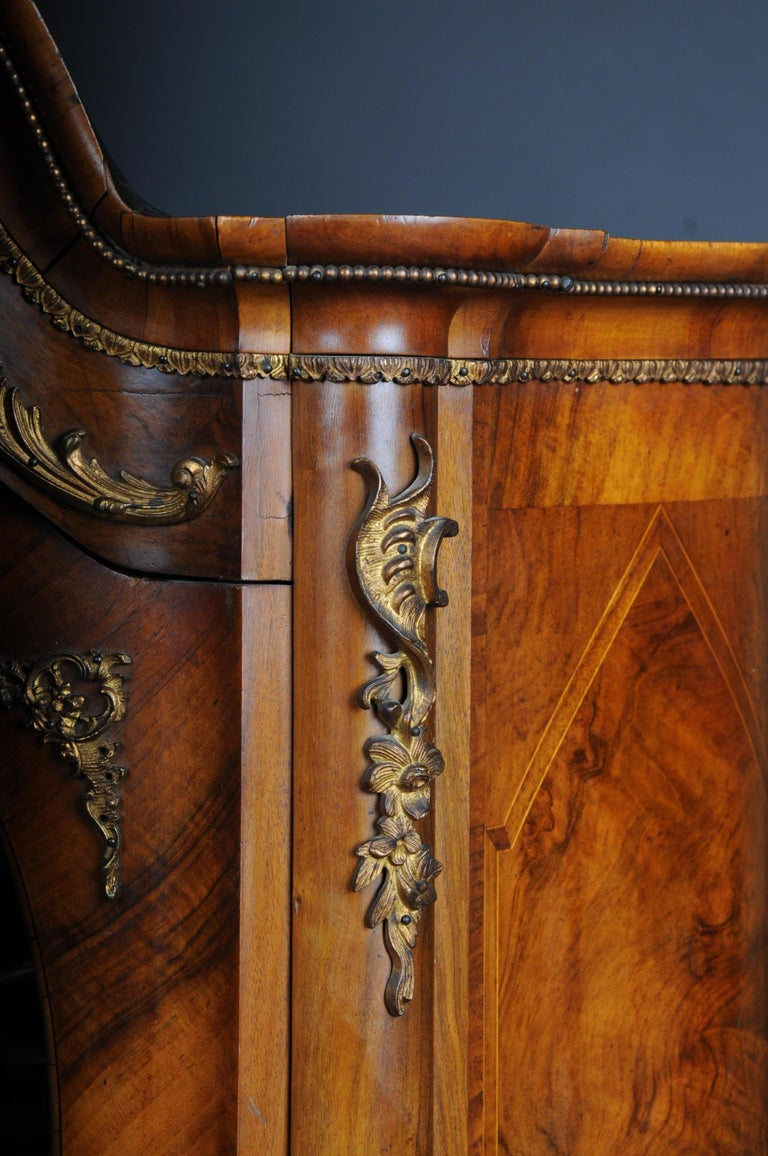 19th Century Rococo Top Cabinet Walnut Root, Germany For Sale 6