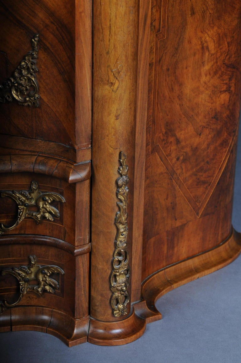 19th Century Rococo Top Cabinet Walnut Root, Germany For Sale 7