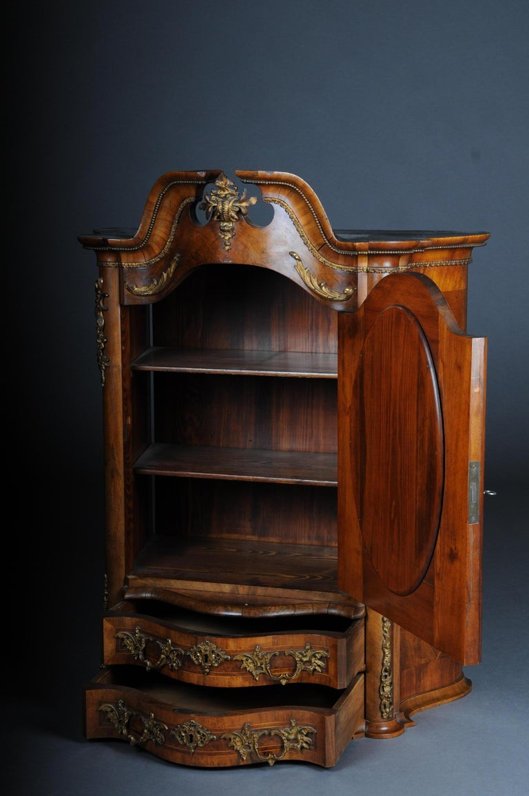 19th Century Rococo Top Cabinet Walnut Root, Germany For Sale 8