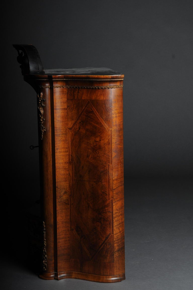 Rococo Revival 19th Century Rococo Top Cabinet Walnut Root, Germany For Sale